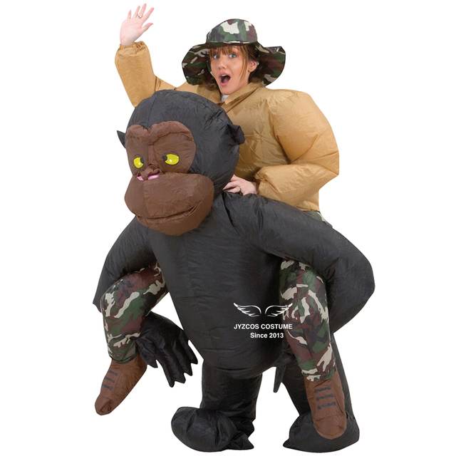 Inflatable Gorilla Costume Animal Themed Halloween Cosplay Costumes