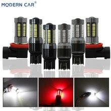 MODERN CAR Spot Light DRL 66W 4014 66SMD Fog Lamp Bulbs H7 T20 7440 7443 1156 1157 7000LM White Red Reversing Turn Single Lights цена в Москве и Питере