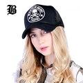 [Flb] transpirable verano femenino mujer snapback gorras de béisbol sombrero del casquillo del acoplamiento del cráneo hueso casquette gorros sombreros para las mujeres de los hombres al aire libre