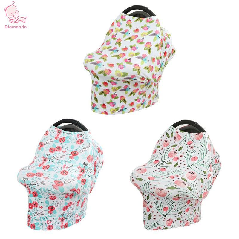 Newborn Breastfeeding Cover Baby Infant Breathable Floral Print Nursing Cloth Big Size Nursing Cover Feeding Cover Feeding Towel