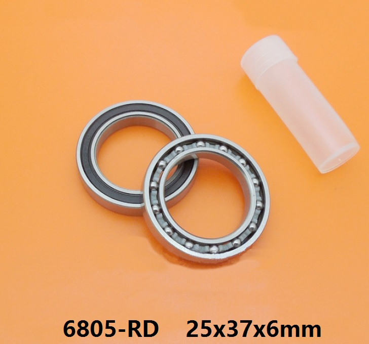 6805N-RS 6805 61805 6805N 6805-RD rubber sealed 25376 <font><b>25x37x6</b></font> mm bike bottom bracket repair bearing for HT2 BB51 GCR15 BB86 BB51 image