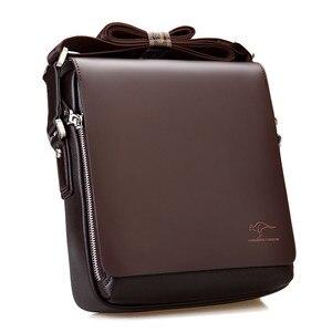 Image 3 - Maletín canguro de marca de diseñador para hombre, bolso de viaje de cuero suave, para negocios, oficina, ordenador, portátil, funda, bolsas de mensajero