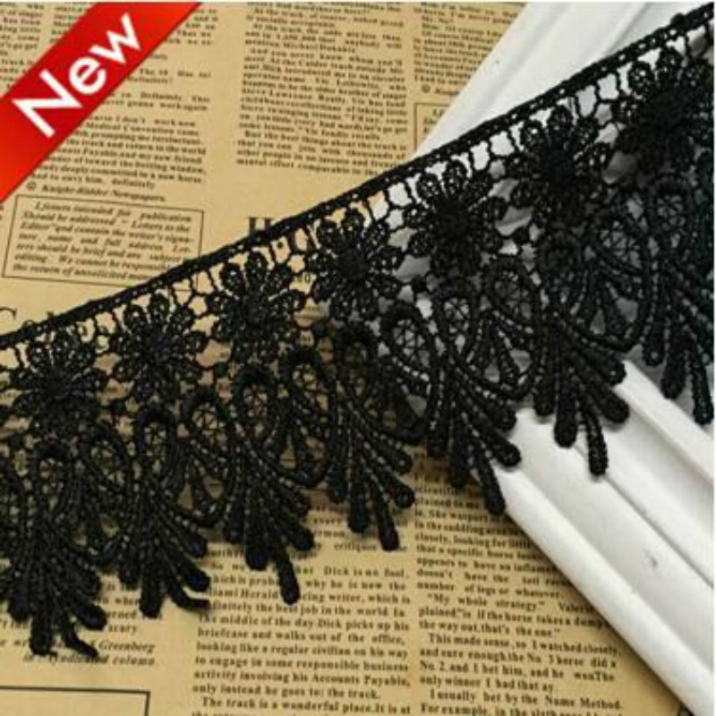 2yards/lot Lace Ribbon Tape 7cm Width Lace Trim DIY Embroidered For Sewing Decoration African Lace Fabric