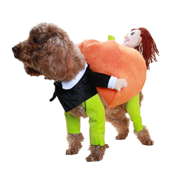Funny Pet Costume Pumpkin Cosplay Suit For Cats Halloween Christmas Clothes For Dogs Party Dressing Up Dog Clothing Cat Apparel