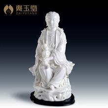 Master Dai Yutang Bai Linlu Yang, China ceramic gift ornaments treasures/12-inch Guanyin D01-007 chalets trendsetting mountain treasures