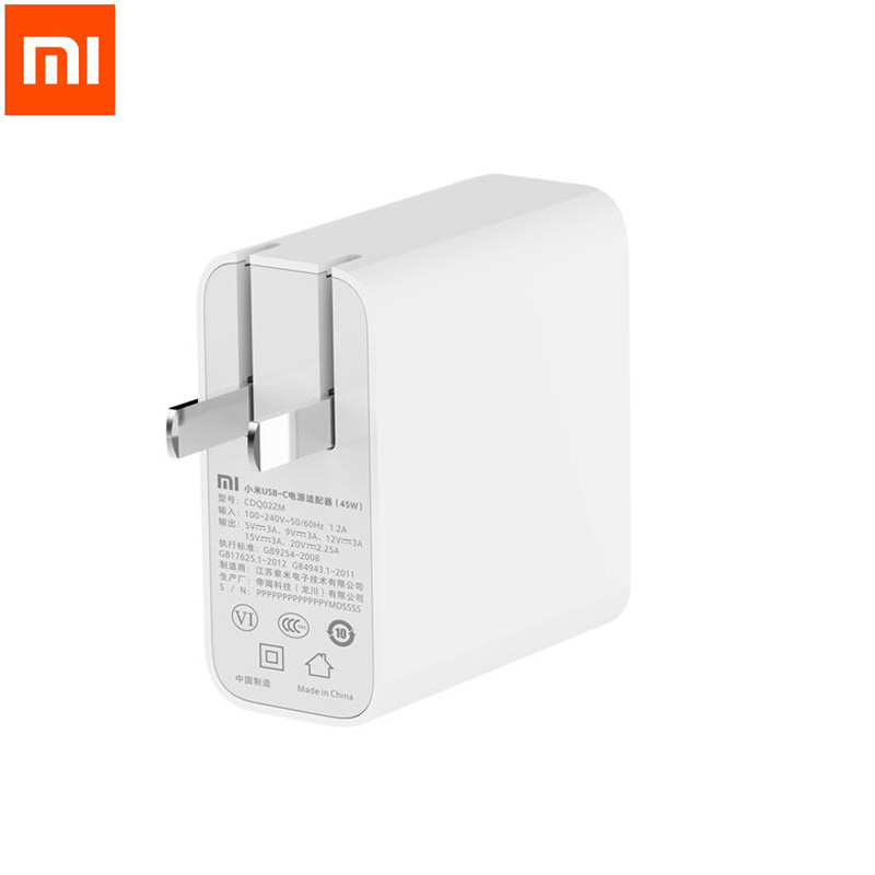 Xiaomi Type C USB C Power Adapter 45W 5V 9V 12V 15 3A 20V 2 25A