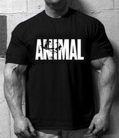 Brand T Shirt Mens Cotton Muscle Fitness Shark Men ANIMAL Gyms T Shirt Bodybuilding Clothing Workout