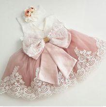 New Cute Baby Girls Birthday Dress 2017 Custom Made Flower Girls Dresses for Wedding Party Girls Dresses  цена в Москве и Питере