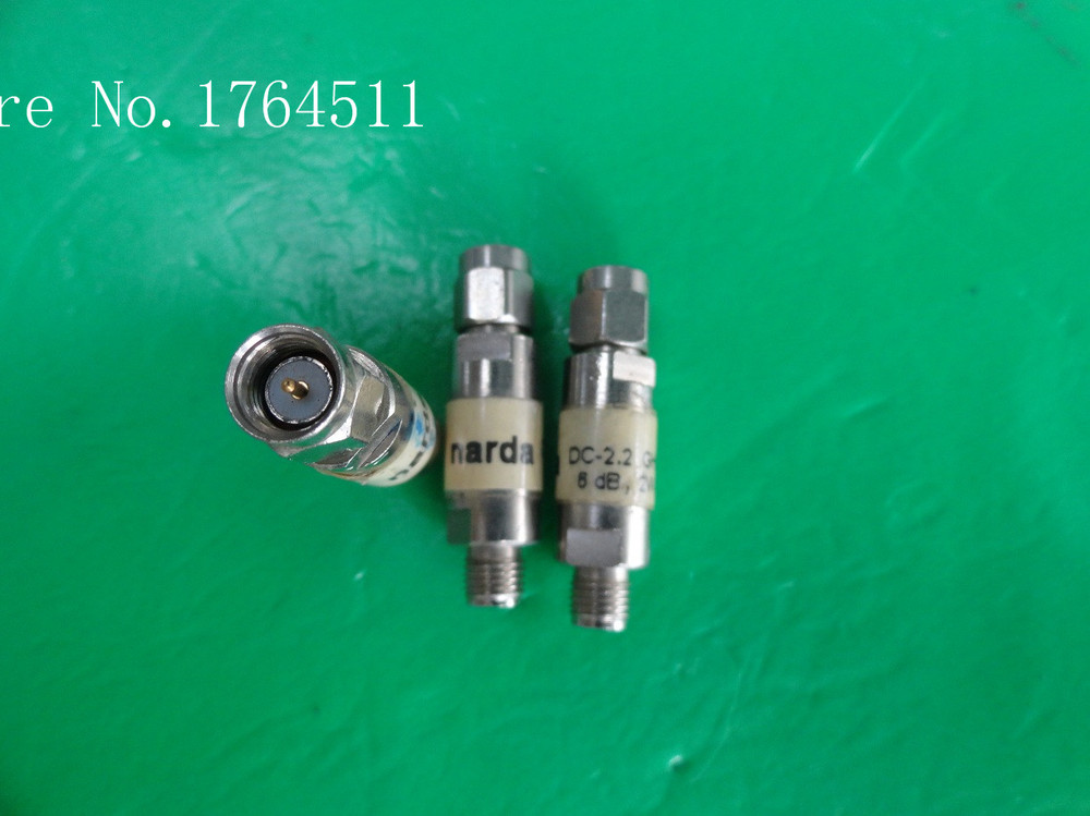 [BELLA] Narda DC-2.2GHZ 6dB 2W SMA Coaxial Fixed Attenuator  --5PCS/LOT