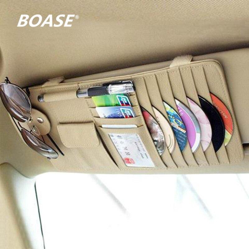 Free Shipping high-grade Sun Visor Storage Bag Car Notes Pouch CD Receive Bag DVD Disk Card Visor Case Folder Pocket