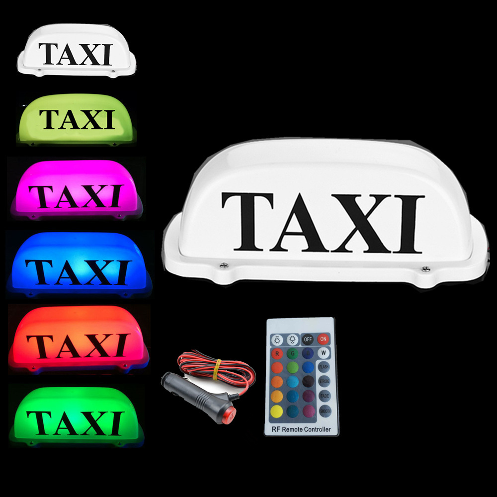 New RGB Taxi Top Light change car LED Roof Sign dome light 12V with Magnetic Base