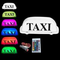 New RGB Taxi Top Light change car LED Roof Sign dome light 12V with Magnetic Base 3M Cigarette lighter plug line