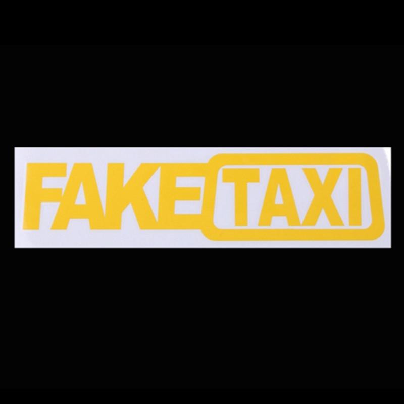 1 Pcs Universal Car Sticker Fake Taxi Race Auto Funny Vinyl Decal 20x5cm Car Styling