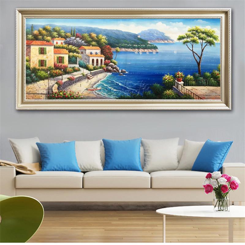 Hand Bemalt Mittelmeer Ansicht Zimmer Gemalt Das Wohnzimmer Schmckt Eine Wand Malerei Auf Der Leinwand Kunst Tapeten Bild 33