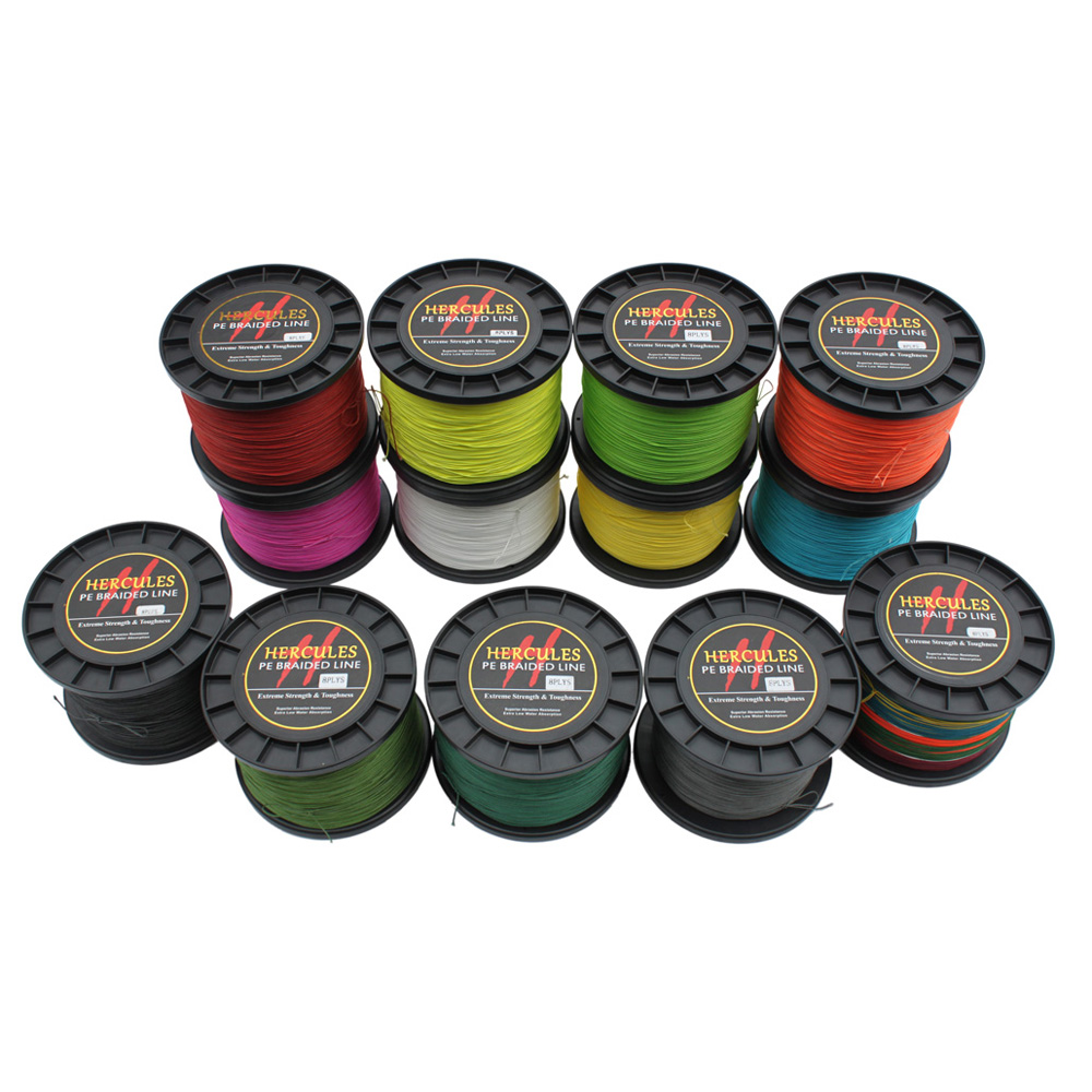 1500M Strong Super Power 200LB Big Game Hercules 8 Strands 100% PE 1640Yds 0.75mm Superior Braided Fishing Line Extreme