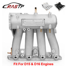 RASTP-Silver Cast Aluminum Intake Manifold for 1988-2000 Honda Civic CRX Del Sol SOHC D Series CX DX EX GX RS-CR1818