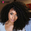 7A Glueless Full Lace Human Hair Wigs For Black Women With Baby Hair 130% Virgin Malaysian Curly Lace Front Human Hair Wigs