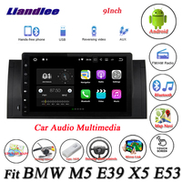 Liandlee Car Android System For BMW M5 E39 X5 E53 Radio GPS Nav Navi MAP Navigation Wifi HD Screen Multimedia NO CD DVD Player
