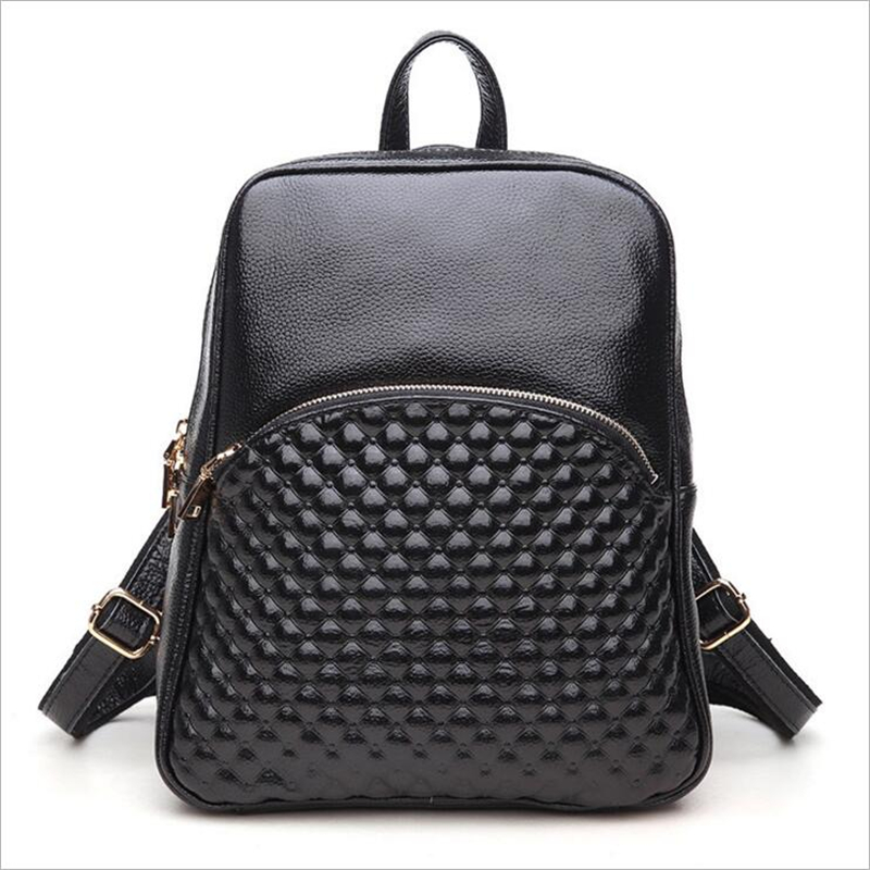 Leather Woman Backpack Solid Fashion Cattle Split Leather 2015 Fashion Leather Backpack for Women WH6981 classic designer style women small backpack cattle split leather backpack with nylon inside