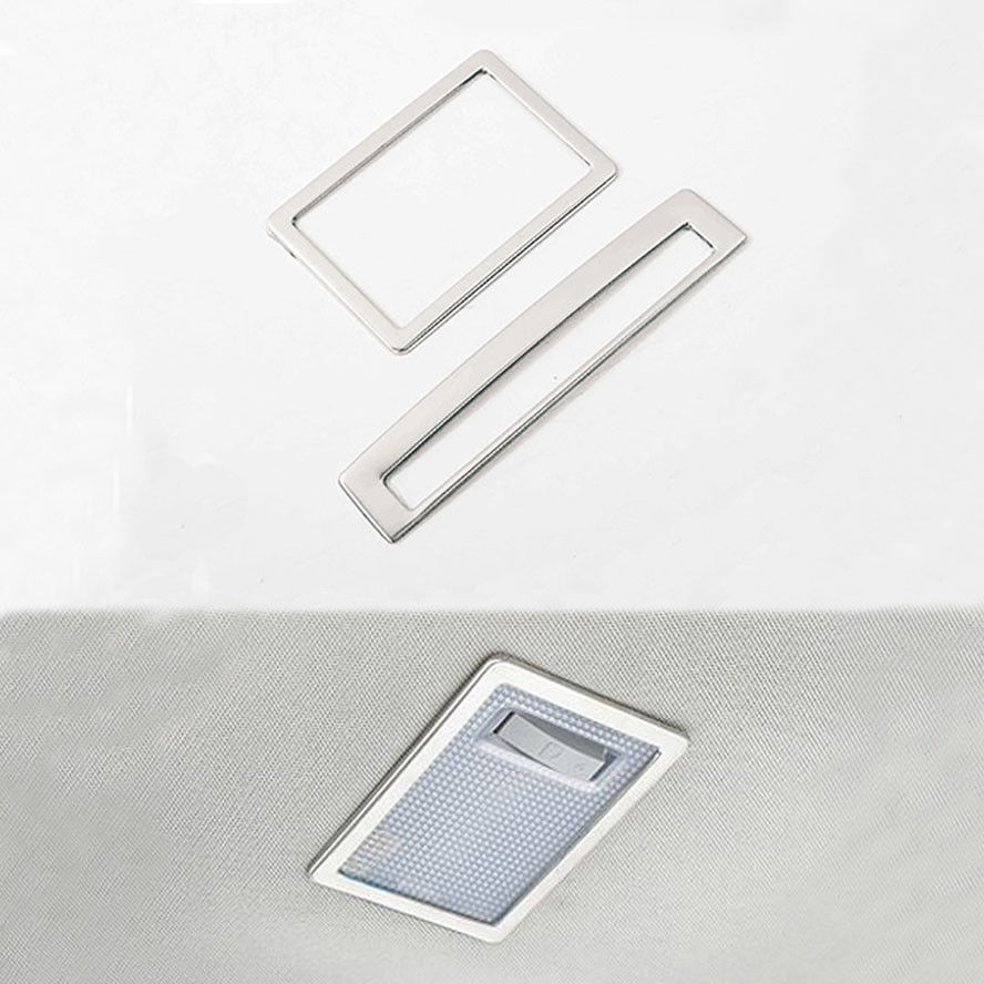 Car Interior Stainless Front Reading Light Frame Cover Styling ...