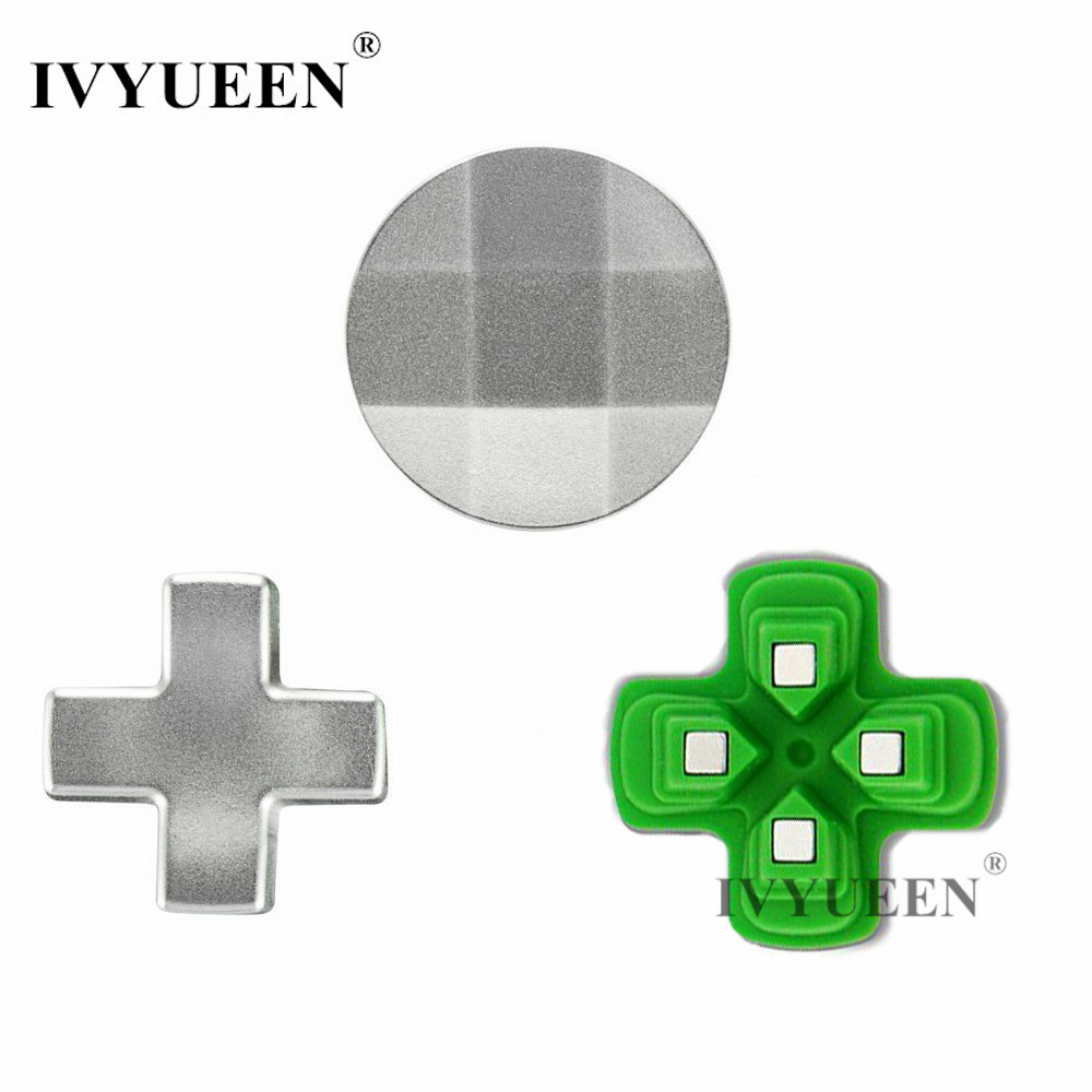IVYUEEN Magnetic Dpad Buttons Mod Kit for Play Station 4 PS4 Slim Pro Controller Metal D Pad for Dualshock 4 DS4 Control