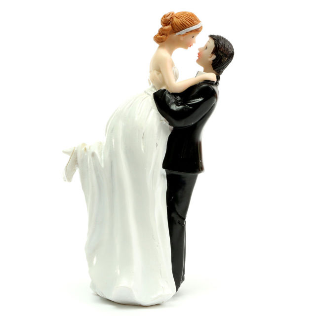 Aliexpresscom Buy FUNNY ROMANTIC WEDDING CAKE TOPPER FIGURE