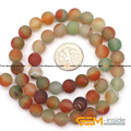 "Round Frost Natural Agate Beads Selectable: 4mm 8mm 10mm, DIY Loose Beads For Jewelry Making Beads Strand 15"" Wholesale !"