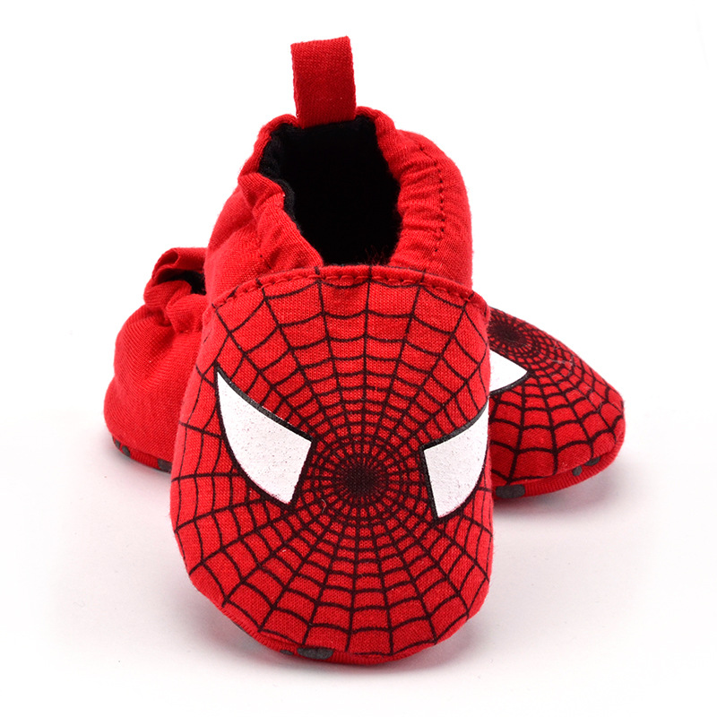 Cotton Fabric Baby First Walkers Cartoon Animal Soft Soles Baby Crib Shoes Fashion <font><b>Spiderman</b></font> Infant Boy Shoes <font><b>Toddler</b></font> Girl Shoes