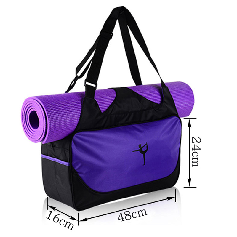 1PC Fitness Women Carrier Bag Tote with Adjustable Shoulder Strap for Gym Workout Yoga Mat Without Mat