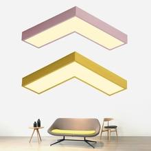 Multicolour Modern Led Ceiling Lamp Creative Geometric figure ultra-thin 5CM light For Bedroom Kitchen Restaurant Bar