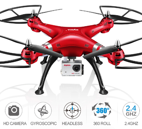 Professional SYMA RC Helicopter X8HG X8HW X8HC 2.4G Remote Control Drones with HD Camera Quadcopter (SYMA X8C/X8W/ X8G Upgrade)