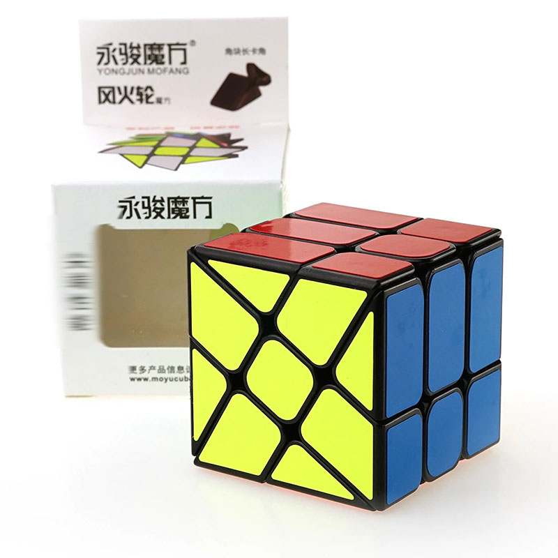 Strange-shape Magico Cubo Black & White PVC Plastic Puzzle Speed Cube Hot Wheel Abnormity Cube Kids Educational Toys
