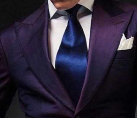 パープルメンズ結婚式のウエディングスーツ 2 個新郎タキシード 2 ボタンディナーブレザー介添人衣装