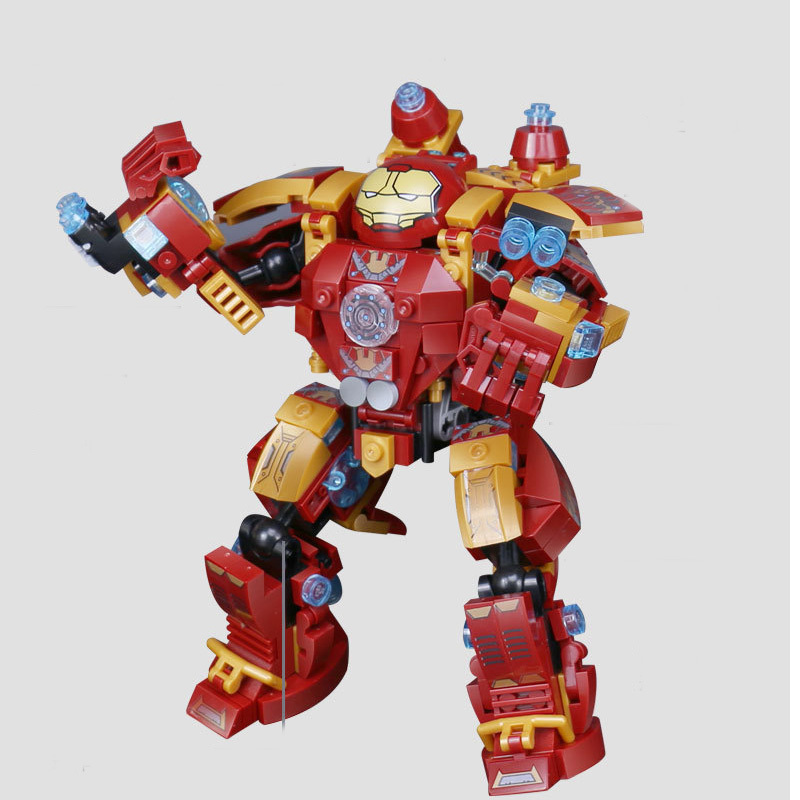 38001 338pcs Bricks Super Heroes movie Iron Man Hulkbuster Mech Building Blocks toys for Children Gifts Compatible Legoe Marvel lepin 07056 775pcs super heroes movie blocks the scuttler toys for children building blocks compatible legoe batman 70908