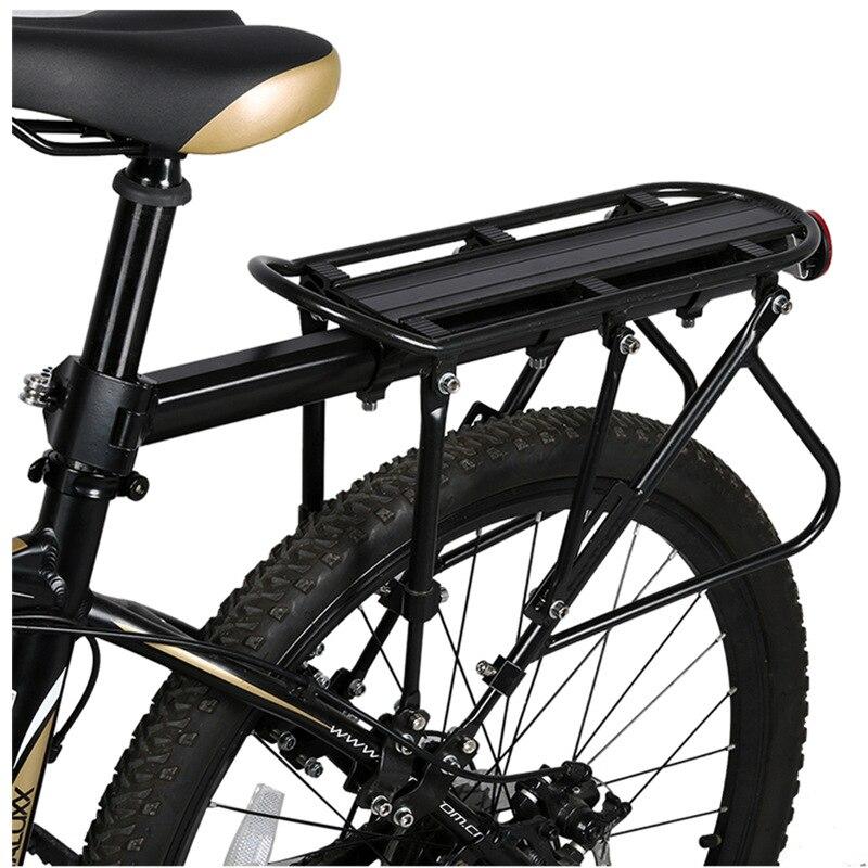 USHIO XC Mountain Bike Racks De Carga de Alumínio Bagageiro da Bicicleta MTB Bicicleta Mountain Bike Bicicleta de Estrada Bicicletas Rack Traseiro Preto