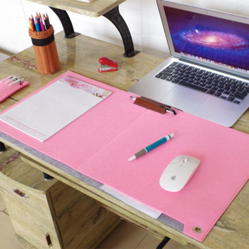 superbig Fashion Durable Computer Skrivebord Matbord Felt Kontor Skrivebord Mat Musemåtte Pen Holder Uld Filt Laptop 67x33cm Skrivebord Mat Pad