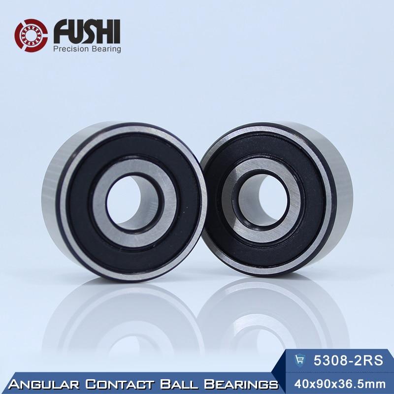 5308 2RS Bearing 40 x 90 x 36.5 mm ( 1 PC ) Axial Double Row Angular Contact 5308RS 3308 2RS 3056308 Ball Bearings 1pcs 71822 71822cd p4 7822 110x140x16 mochu thin walled miniature angular contact bearings speed spindle bearings cnc abec 7