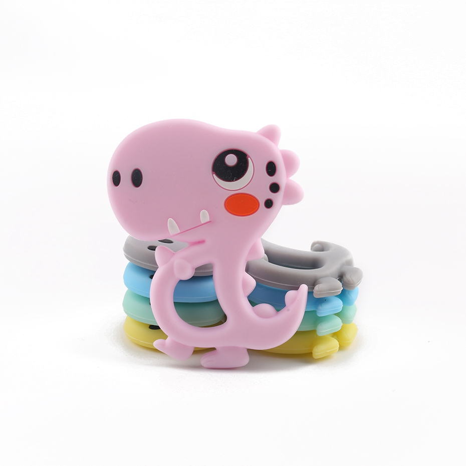 1pc Tiny Rod Silicone Rodent Baby Silicone Teether BPA Free Cartoon Dinosaur Toys  Baby DIY Necklace Silicone Baby Teethers