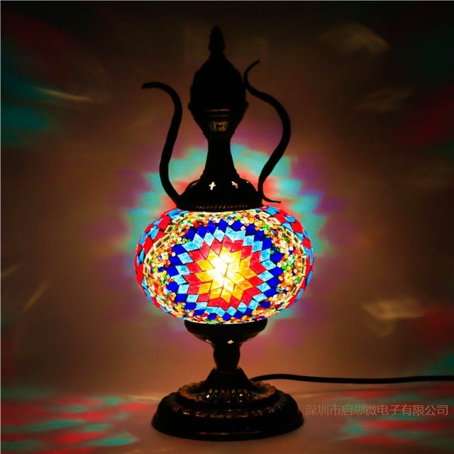 2017 newest mediterranean style art deco turkish mosaic table lamp 2017 newest mediterranean style art deco turkish mosaic table lamp handcrafted mosaic glass romantic bed light aloadofball Images