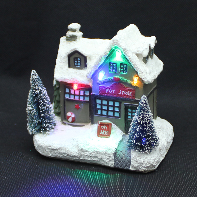 Christmas Village Houses.Us 11 78 8 Off Holiday Time 5
