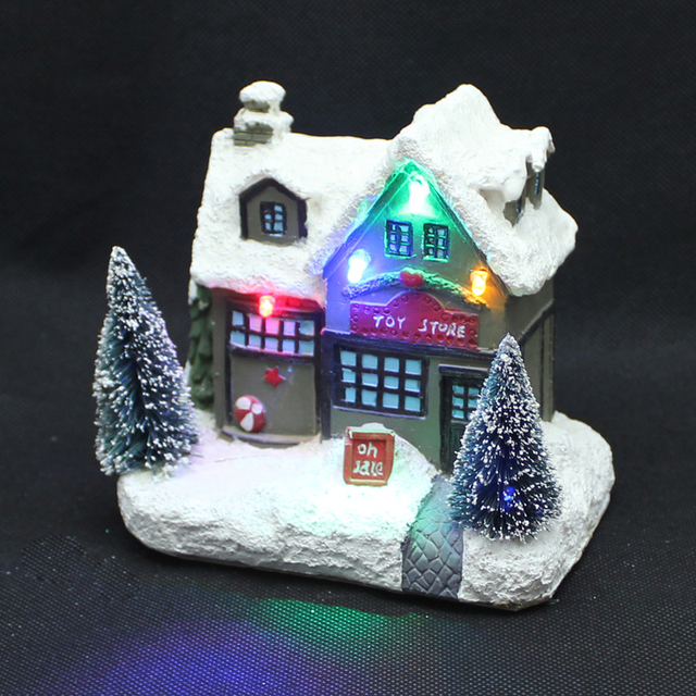 holiday time 5 holly for sale christmas village houses with rgb led light battery - Holiday Time Christmas Decorations