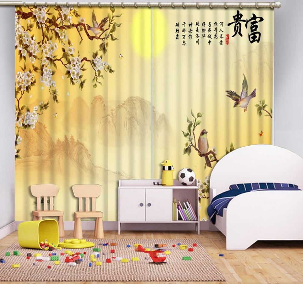 High quality custom 3d curtain fabric Modern Home Decoration Living Room Curtains 3d curtains