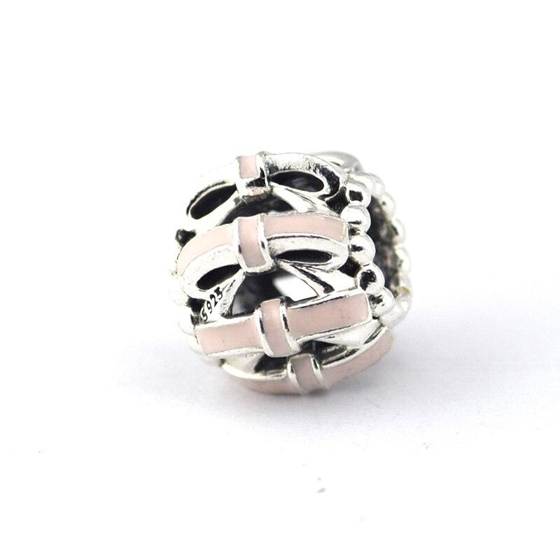 dda4a7859 ... Sweet Sentiments, Pink Enamel Charm Beads Fits Pandora Bracelets Diy 100%  925 Sterling Silver .