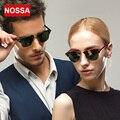 NOSSA Full Frame Sunglasses Matte Temple Colored Coating Small Frame Sunglasses Luxury Sun Glasses