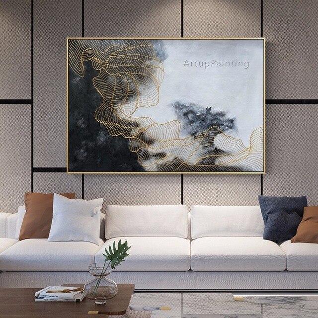 Vérifiez Le Prix Blanc Gris Peinture à L Huile Abstraite Sur