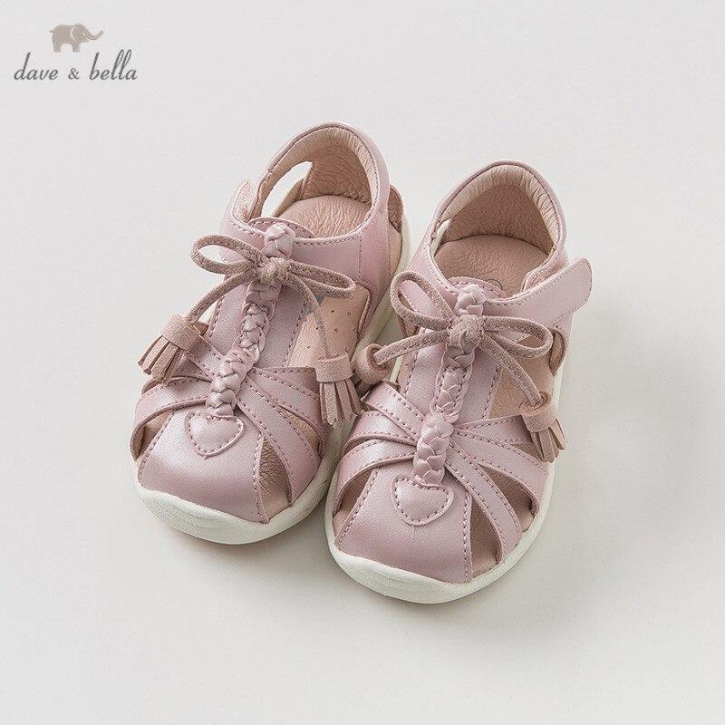 DB9723 Dave Bella été bébé fille sandales nouveau-né infantile chaussures fille sandales princesse chaussures rose