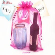10 pçs drawable colorido organza sacos 35*50cm jóias embalagem sacos & pouche favor casamento presente de natal sacos 5zsh322