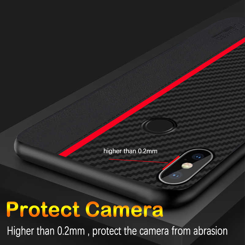 Para Xiaomi Nota Redmi Caso Nota Redmi 5 5 Versão Global de Proteção De Fibra de Carbono Tampa Traseira para Redmi 6A 7A caso nota 7 Pro 7S