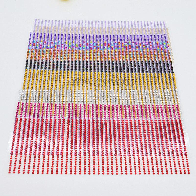 1 Set 3/4/5/6mm Fai Da Te Decalcomania Del Telefono Mobile Pc Art Bling Del Rhinestone Acrilico Di Auto Adesivo Scrapbooking Stickers Da Parete Adesivo Auto