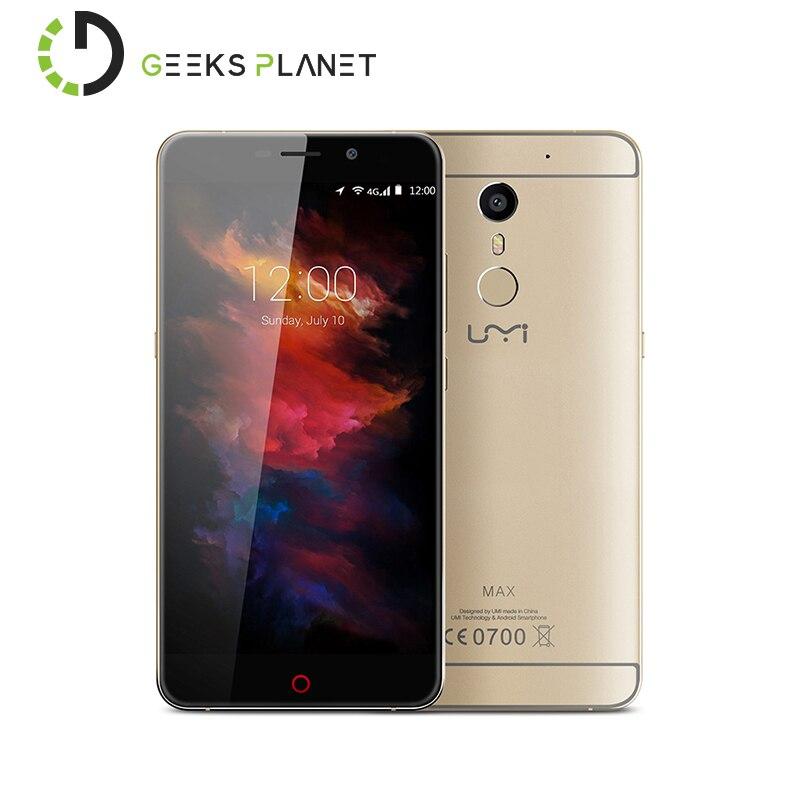 Original Umi MAX Mobile Phone Helio P10 MTK6755 1 8GHz Octa Core 5 5 Inch FHD